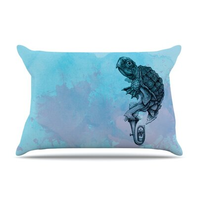 Turtle Tuba II by Graham Curran Featherweight Pillow Sham Size: King, Fabric: Woven Polyester