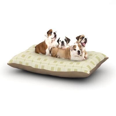 Fotios Pavlopoulos Squares in Square Shapes Dog Pillow with Fleece Cozy Top Size: Large (50 W x 40 D x 8 H)