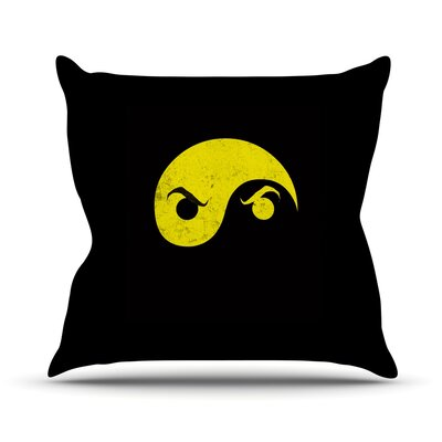 Yin Yang Ninja by Frederic Levy-Hadida Throw Pillow Size: 26 H x 26 W x 1 D