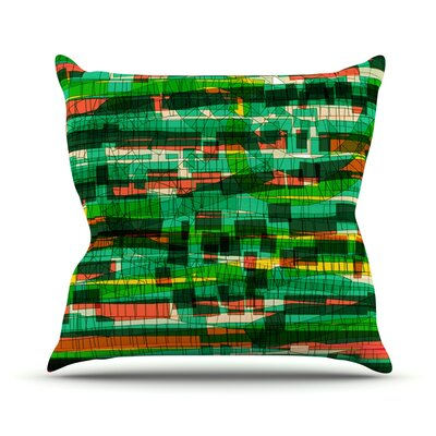 Squares Traffic by Frederic Levy-Hadida Throw Pillow Size: 16 H x 16 W x 1 D, Color: Green