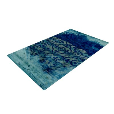 Frederic Levy-Hadida Mosaic Cyan Area Rug Rug Size: 2 x 3