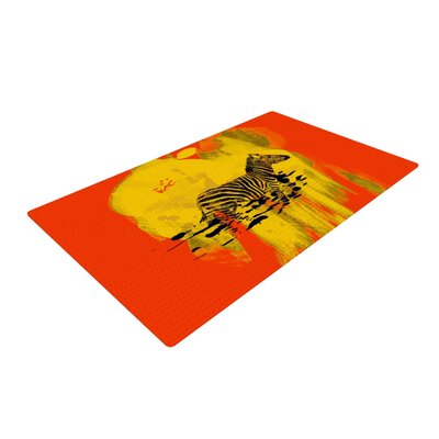 Frederic Levy Hadida Zebra Orange/Yellow Area Rug Rug Size: 4 x 6