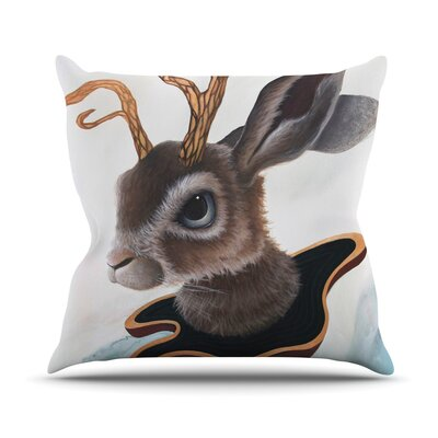 Lucid Jack by Graham Curran Rabbit Throw Pillow Size: 26 H x 26 W x 1 D