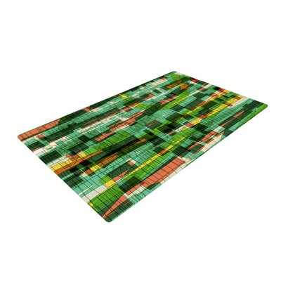 Frederic Levy Hadida Squares Traffic Green Area Rug Rug Size: 2 x 3