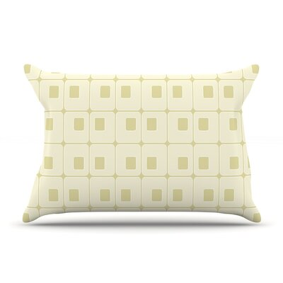 Squares in Square by Fotios Pavlopoulos Featherweight Pillow Sham Size: King, Fabric: Woven Polyester