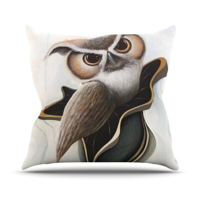 Lucid June by Graham Curran Owl Throw Pillow Size: 26 H x 26 W x 1 D