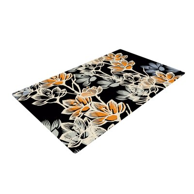 Gill Eggleston Crocus Black/White Area Rug Rug Size: 4 x 6