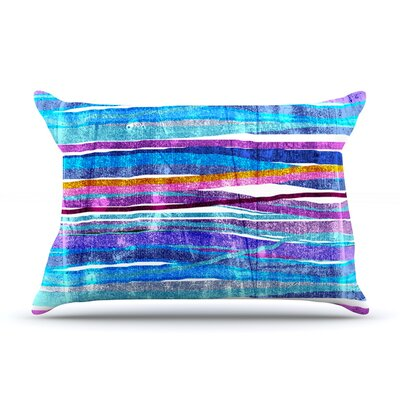 Frederic Levy-Hadida Fancy Stripes Light Pillow Case Color: Dark Blue