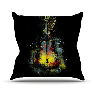 Midnight Syphony by Frederic Levy-Hadida Throw Pillow Size: 16 H x 16 W x 1 D