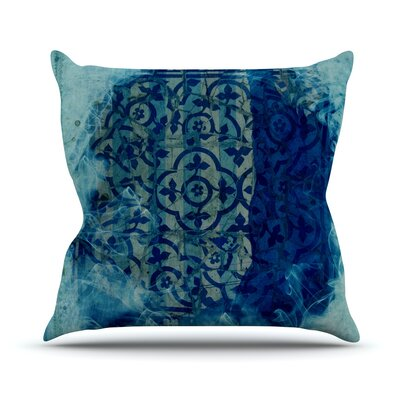 Mosaic in Cyan Throw Pillow Size: 16 H x 16 W x 1 D