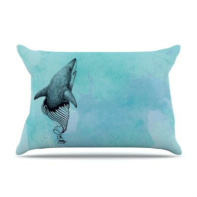 Shark Record III by Graham Curran Featherweight Pillow Sham Size: King, Fabric: Woven Polyester