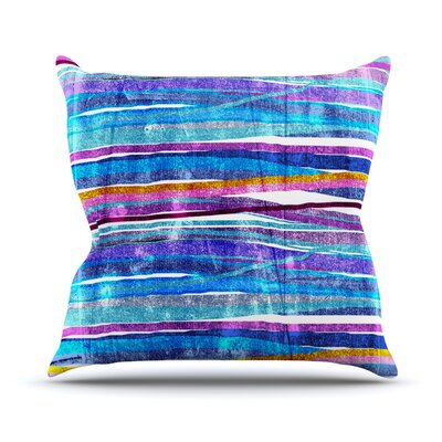 Fancy Stripes by Frederic Levy-Hadida Throw Pillow Size: 16 H x 16 W x 1 D, Color: Dark Blue