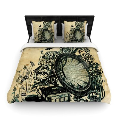 Sound of Nature Woven Comforter Duvet Cover Size: King
