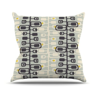 Carnaby by Gill Eggleston Throw Pillow Size: 16 H x 16 W x 1 D