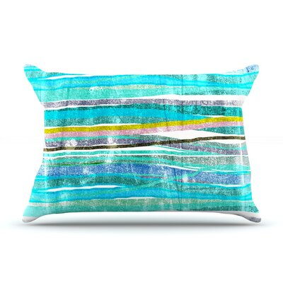 Frederic Levy-Hadida Fancy Stripes Light Pillow Case Color: Aqua