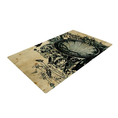 Frederic Levy-Hadida Sound of Nature Beige/Black Area Rug Rug Size: 4 x 6