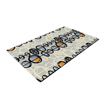 Gill Eggleston Benin Gray/White Area Rug Rug Size: 2 x 3