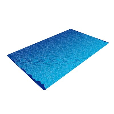 Frederic Levy-Hadida Bubbling Blue Area Rug Rug Size: 4 x 6