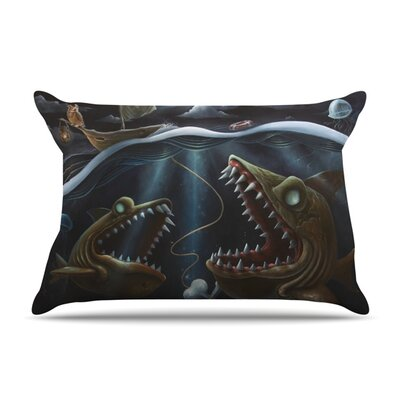 Sink or Swim by Graham Curran Featherweight Pillow Sham Size: King, Fabric: Woven Polyester