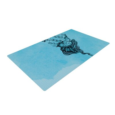 Graham Curran All Aboard Blue/Teal Area Rug Rug Size: 2 x 3