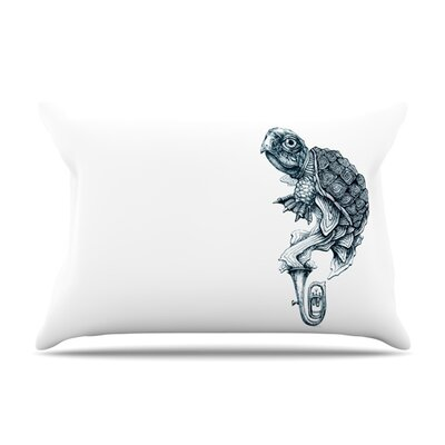 Turtle Tuba by Graham Curran Featherweight Pillow Sham Size: Queen, Fabric: Woven Polyester