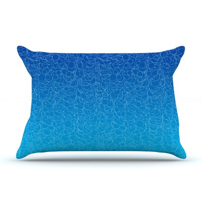 Frederic Levy-Hadida Bubbling Pillow Case Color: Blue