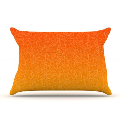 Bubbling by Frederic Levy-Hadida Featherweight Pillow Sham Size: Queen, Color: Red, Fabric: Woven Polyester