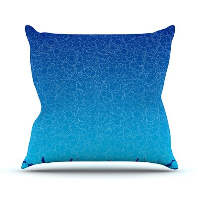 Bubbling by Frederic Levy-Hadida Throw Pillow Size: 26 H x 26 W x 1 D, Color: Blue