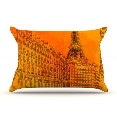 Parisian Sunsets by Fotios Pavlopoulos Featherweight Pillow Sham Size: Queen, Fabric: Woven Polyester