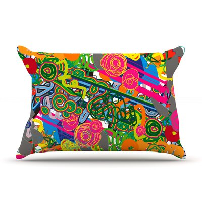 Psychedelic Garden by Frederic Levy-Hadida Featherweight Pillow Sham Size: Queen, Fabric: Woven Polyester