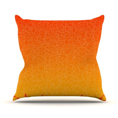 Bubbling by Frederic Levy-Hadida Throw Pillow Size: 20 H x 20 W x 1 D, Color: Red