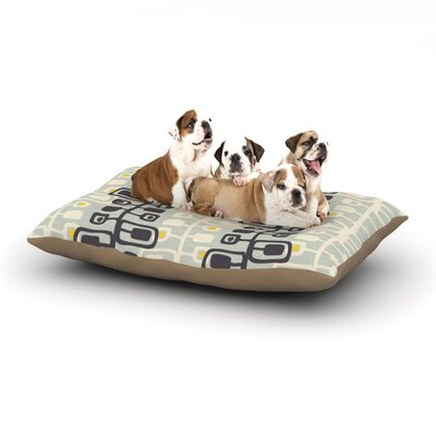 Gill Eggleston Carnaby Dog Pillow with Fleece Cozy Top Size: Small (40 W x 30 D x 8 H)