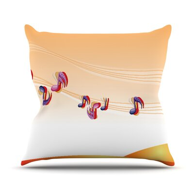 Nature Music by Fotios Pavlopoulos Throw Pillow Size: 16 H x 16 W x 1 D