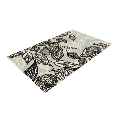 Gill Eggleston Java Leaf Black/Light Blue Area Rug