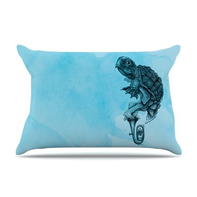 Turtle Tuba III by Graham Curran Featherweight Pillow Sham Size: King, Fabric: Woven Polyester