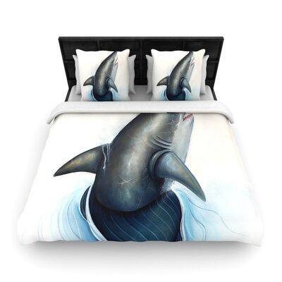Lucid Woven Comforter Duvet Cover Size: King