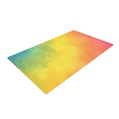 Fotios Pavlopoulos Layers Rainbow Area Rug Rug Size: 2 x 3