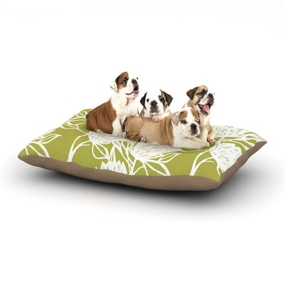 Gill Eggleston Protea Flowers Dog Pillow with Fleece Cozy Top Size: Large (50 W x 40 D x 8 H), Color: White/Green