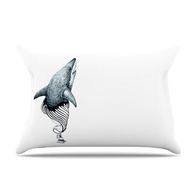Shark Record by Graham Curran Featherweight Pillow Sham Size: Queen, Fabric: Woven Polyester