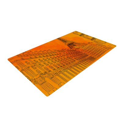 Fotios Pavlopoulos Parisian Sunsets City Orange Area Rug Rug Size: 4 x 6