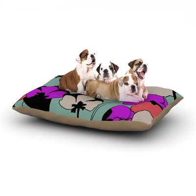 Gabriela Fuente Vintage Flowers Dog Pillow with Fleece Cozy Top Size: Small (40 W x 30 D x 8 H)