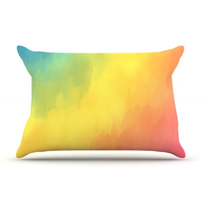 Watercolor Layers by Fotios Pavlopoulos Featherweight Pillow Sham Size: Queen, Fabric: Woven Polyester