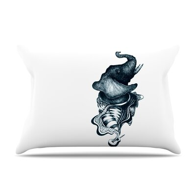 Elephant Guitar by Graham Curran Featherweight Pillow Sham Size: Queen, Fabric: Woven Polyester