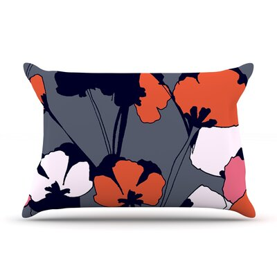 Pop Flowers by Gabriela Fuente Featherweight Pillow Sham Size: King, Fabric: Woven Polyester