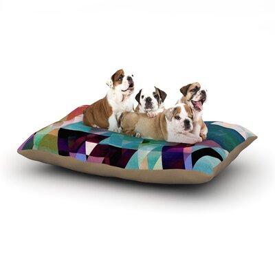 Gabriela Fuente Splash Dog Pillow with Fleece Cozy Top Size: Large (50 W x 40 D x 8 H)