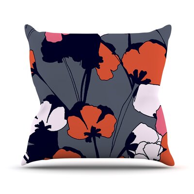 Pop Flowers by Gabriela Fuente Throw Pillow Size: 18 H x 18 W x 1 D