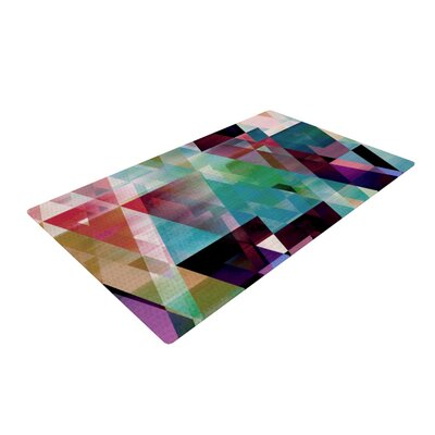 Gabriela Fuente Splash Green/Red Area Rug Rug Size: 2 x 3