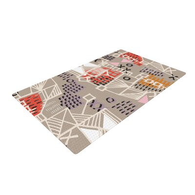 Gill Eggleston Nico Gray/Red Area Rug Rug Size: 2 x 3