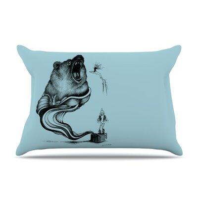 Hot Tub Hunter II by Graham Curran Featherweight Pillow Sham Size: Queen, Fabric: Woven Polyester
