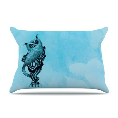 Owl III by Graham Curran Featherweight Pillow Sham Size: King, Fabric: Woven Polyester